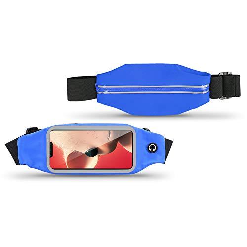 UC-Express heuptas voor Huawei P Smart Plus hoes heuptas fitness heuptas telefoonhoes looptas beschermhoes cover case, blauw