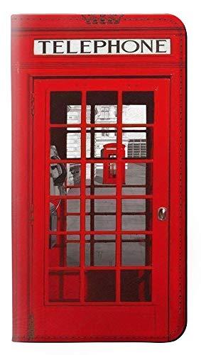 Innovedesire Classic British Red Telephone Box Flip Hülle Tasche Klappetui für LG K10 (2018), LG K30, LG K11