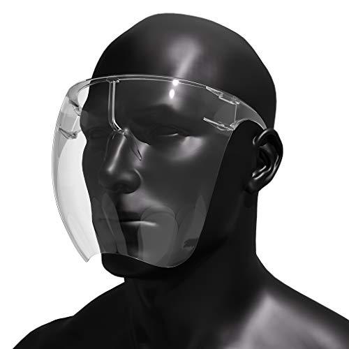 Protective Transparent Goggle Sunglasses Full Cover Visor Glasses Sunglasses Visor Full Face Cover UV 400 Daily Entertainment Protective Eyewear(Medium)