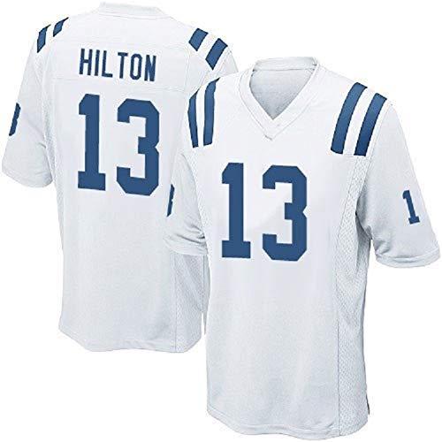 Rugby Jersey Polo voetbalshirt voor heren, 13# T.Y. Hilton Indianapolis Colts Amerikaanse trui, het ziet er geweldig uit en voelt geweldig