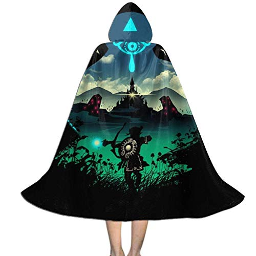 Capa para nios de Halloween Legend of Zelda Breath of The Wild Aventurero Salvaje Unisex Capa con Capucha para nios Capa Decoracin de Fiesta de Navidad de Halloween Disfraces de Cosplay de rol Pr