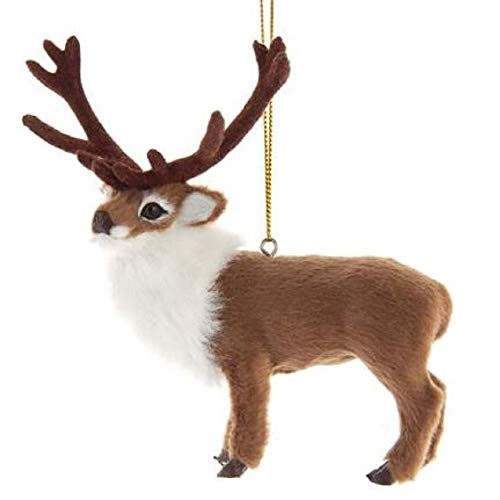 Kurt Adler Furry Reindeer Ornament
