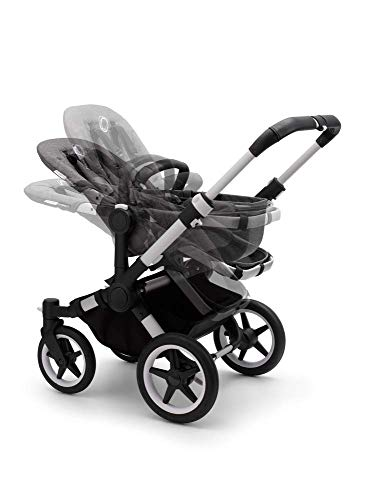 Bugaboo Donkey 3 Mono Single Stroller Converts to Side-by-Side Double Stroller, Multiple Seat Positions - Aluminum/Grey Melange