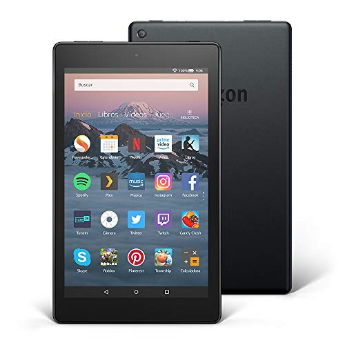 Tablet Fire HD 8 | Pantalla HD de 8 pulgadas, 16 GB, negro, incluye of