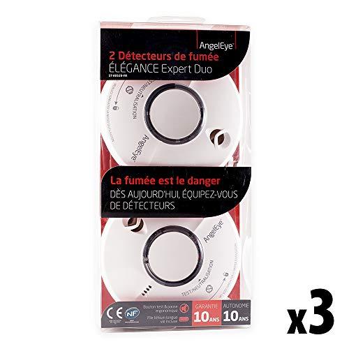 ANGELEYE - 6er Set (3x2) Rauchmelder ST620-FRT Thermoptek - 10 Jahre Garantie