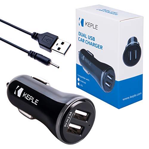 Twee poorten in autolader + kleine pin USB-kabel | dubbele USB-aansluiting laadconvertor voor Nokia 6111, 6120, 6121, 6125, 6131, 6136 | 2x 2,4A (12/24V) adapter met Nokia laadkabel (0,6m)