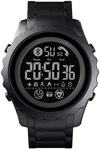 Reloj inteligente digital para hombre, con aplicación recordatorio de calorías, impermeable, Bluetooth, para Android (color: verde)