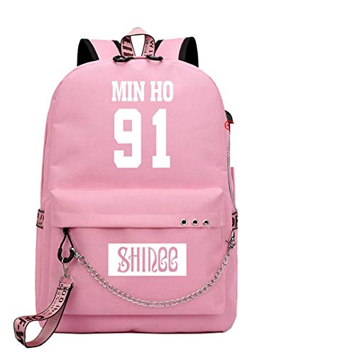 JUSTGOGO Korean KPOP SHINee Backpack Daypack Handbag School Bag Mochila Bookbag