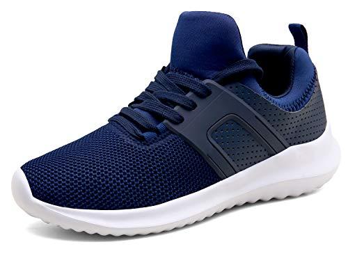 XKMON Laufschuhe Leichte Turnschuhe Fitness Schnürer Gym Sportschuhe für Herren Damen,XZ626-blue-EU40