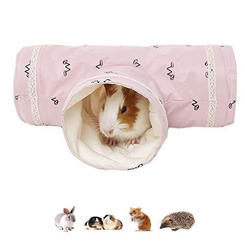 ASOCEA Zusammenklappbarer Hamster-Spieltunnel für Kleintiere Versteck für Haustiere Haustier-Spielzeug Nest Käfig-Zubehör für Meerschweinchen Chinchillas Mäuse Ratten Rennmäuse Ratten Eichhörnchen