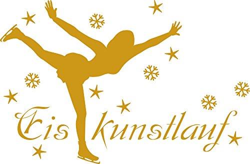 GRAZDesign Wandtattoo Eiskunstlaufen Wand-Deko Sportler Motivation, Fitness, Fitnessraum (87x57cm//820 Mustard)