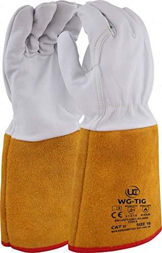 Premium WG-TIG Welding Gauntlets, Size 10