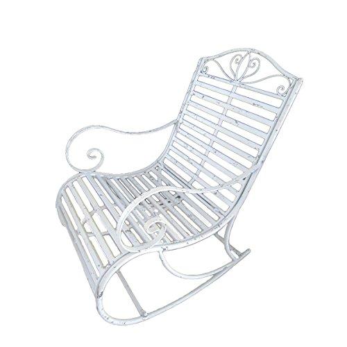 Gravidus schicker Schaukelstuhl aus Eisen, Weiß