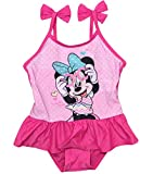 Minnie Mouse Bademode Badeanzug Mädchen Disney (Fuchsia, 98)