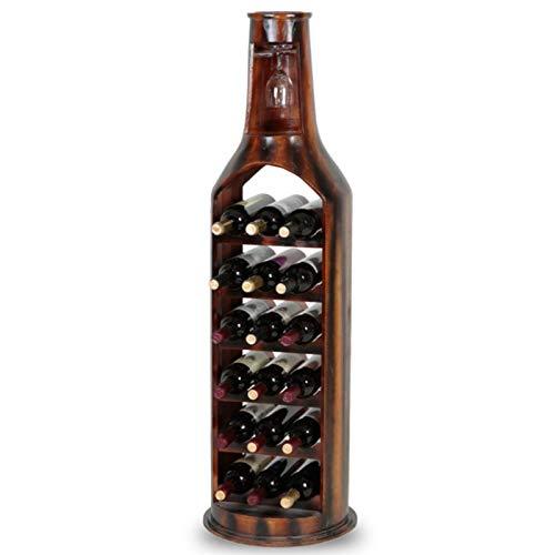 POETRY Estante para Vino Soporte para Copas Estante de exhibición de Madera Maciza para Botella de Vino Independiente decoración del hogar de Cocina