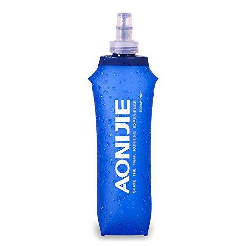 uzinb Deporte Plegable Bolsa de Agua de plástico Blando Botella de Bebida de 250 ML / 500 ML / 170 ML Botella Sport portátil