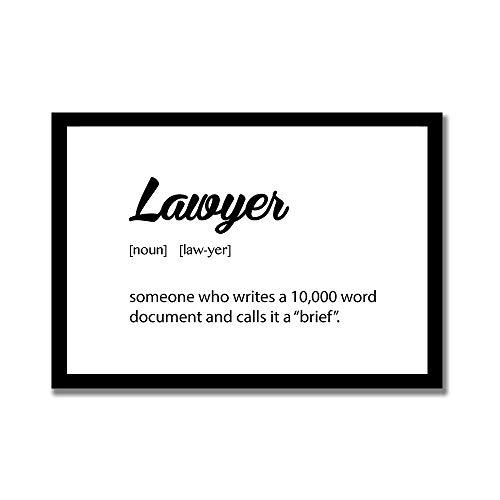 TattyaKoushi Holzrahmen-Dekoschilder, Wandkunst mit Anwalt Definition, lustiges Geschenk für Anwälte, Anwälte, Anwalt Definition, Wandkunst, 20,3 x 30,5 cm