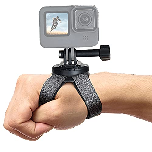 Correa de muñeca giratoria de 360 grados, compatible con GoPro Hero 10 negro, Hero 9/8/7/6/5 negro, correa de muñeca soporte de ciclismo para DJI Osmo Action, Xiaomi Yi y más