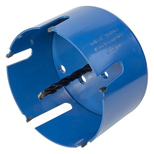 Wolfcraft 3887000 (L) sierra de corona universal completo con vástago hexagonal y broca de centrado CT, profundidad de corte 60 mm PACK 1