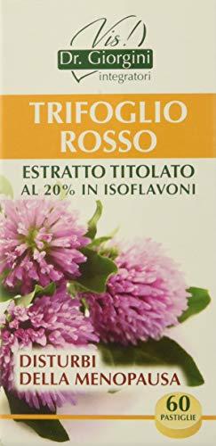 Dr. Giorgini Integratore Alimentare, Monocomponenti Erbe Trifoglio Rosso Estratto Titolato al 20% in Isoflavoni Pastiglie - 30 g