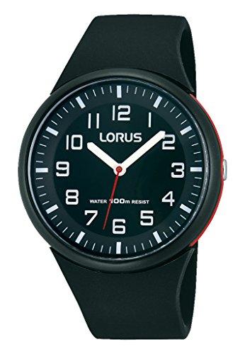 Lorus Watches RRX47DX9-Orologio da donna con cinturino in gomma, colore: nero