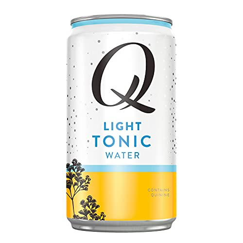 Q Light Tonic Water, Premium Light Tonic Water, 7.5 Fl oz, 24 Cans (Only 20 Calories per Can)
