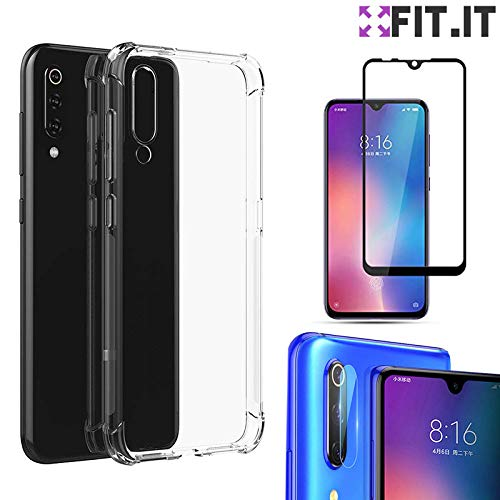 [FIT.IT] Capa Capinha Anti Impactos Quedas Xiaomi Mi 9 Se + Película de Câmera + Película 5D Nano Flexível
