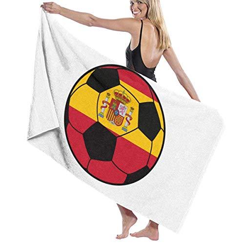 España Fútbol Unisex Toallas de Playa Toallas de baño Adolescentes Adultos 31x51 Pulgadas