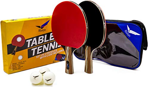 Cheapest Prices! Ping Pong Paddle Set - 2 Table Tennis Racket Set with 3 Balls and Travel Case - End...