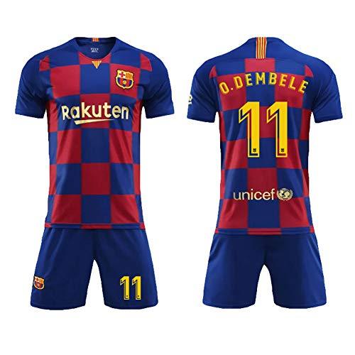 Casa de Barcelona, Maillot de Cuadros de fútbol, Barcelona 10 Messi 9 Suarez, Traje de fútbol Deportivo, niños/Adultos.-3-L