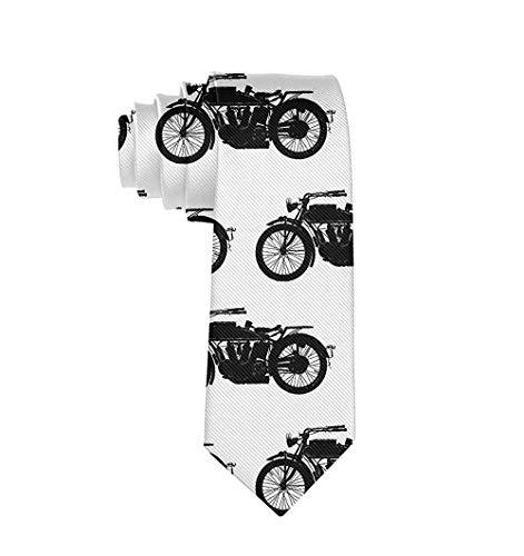 Corbata de piñas azules para hombre, color negro, para fiestas, bodas, festivales Cool Crazy Antique Motocicleta Talla única