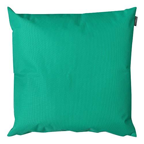 Bean Bag Bazaar Tropical Palm - Cojín para exteriores (4 unidades, 43 cm, relleno de fibra decorativa), diseño moderno y resistente al agua, para silla de jardín o patio o sofá