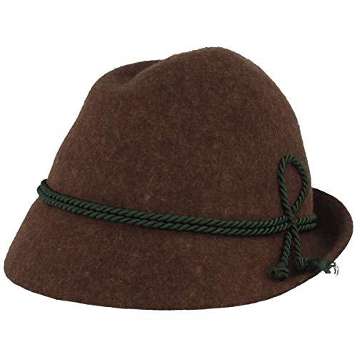 Hut Breiter Trachtenhut, braun, Größe S