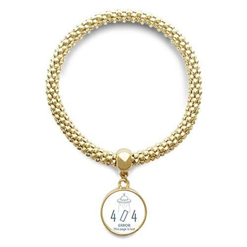 DIYthinker Womens programmeur 404 fout niet gevonden gouden armband ronde hanger sieraden ketting