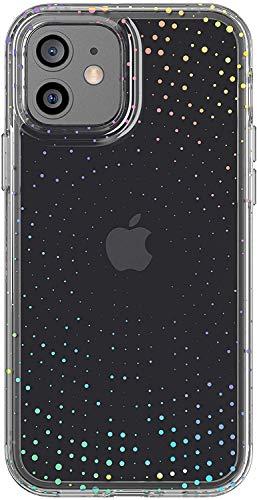 tech21 EVO Sparkle Radiant - Carcasa antimicrobiana para Apple iPhone 12 Pro MAX 5G (protección contra caídas de 3 m)