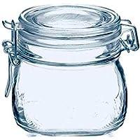 TAPAS & ENVASES RIOJA Botes Cristal Cocina Bote con Cierre hermetico con Tapa Bote para Alimentos menaje de Cocina con Cierre Manual de Aluminio Ideal para conservas Alimentos Kombucha (500 Ml)