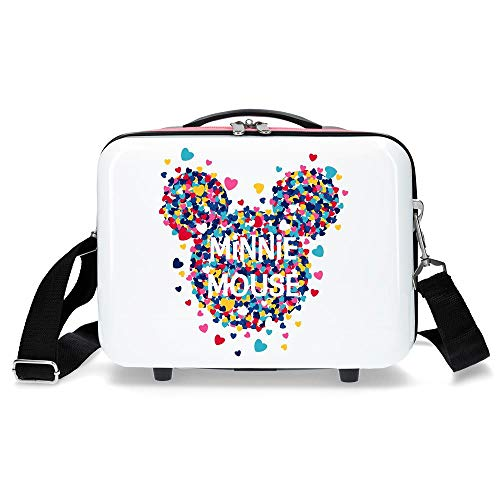 Disney Minnie Magic Nececer Adaptable Blanco 29x21x15 cms ABS