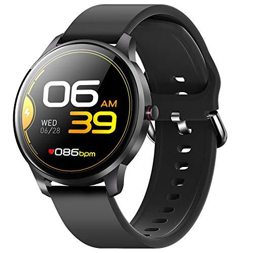 CUBOT Smartwatch Herren, Fitnessuhr, 1.3 Zoll Touchscreen, IP68 Wasserdicht Fitness Tracker, Pulsuhr, Schrittzähler, mit Schlafmonitor, für Android/iOS, Schwarz
