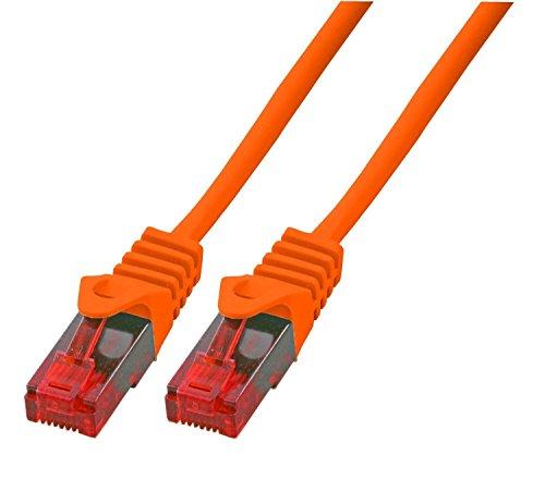 BIGtec 10m Gigabit Ethernet LAN Kabel Netzwerkkabel orange