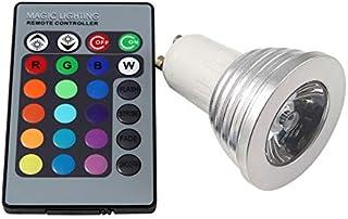 SGJFZD GU10 RGB LED Spotlight 3W LED Lamp 85-265V Lamp High Power 16 Colors Changeable Home Decoration Infrared LED Light ...