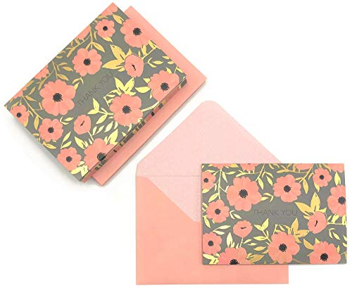 Leaving Space Tropical Leaves Note Card Set of 5 Blank Cards /& Envelopes