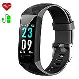 HETP Fitness Armband mit Blutdruck, Fitness Tracker Uhr Pulsmesser Wasserdicht IP67 Blutdruckmesser...