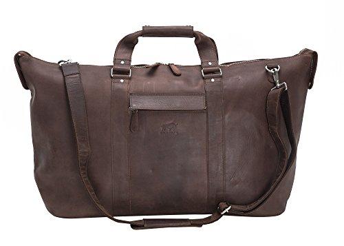 Solo Pelle - Premium Weekender Reisetasche, Sporttasche & Handgepäck aus Leder - Model:...