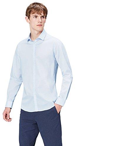find. Hemd Herren aus Baumwolle mit New-Kent-Kragen, Blau (Sky Blue), Large