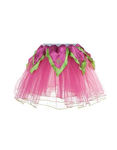 Dreamy Dress-Ups 50447 Flower Tutu, Hot Pink/Lime, M 6-7 YRS, Ballett-Röckchen Blumenfee Tutu