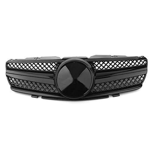41uKZi5QUhL - BTSDLXX Auto Front Sport Kühlergrille, für Mercedes Benz R230 SL-Class SL500 SL600 SL55 AMG 2003-2007 Nierengitter Stoßstangengrill Kühlung Kühler Luftansauggitter Dekoratives Zubehör, ABS