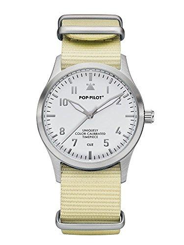 Pop Pilot Damen Analog Quarz Uhr mit Stoff Armband Cuz T03