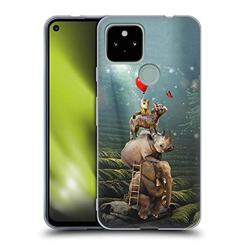 Head Case Designs Officially Licensed Klaudia Senator Friends Reaching Butterfly French Bulldog 2 Soft Gel Case Compatible with Google Pixel 4a 5G