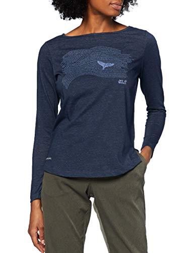 Jack Wolfskin Damen Ocean Fin Sweatshirt, Midnight Blue, S