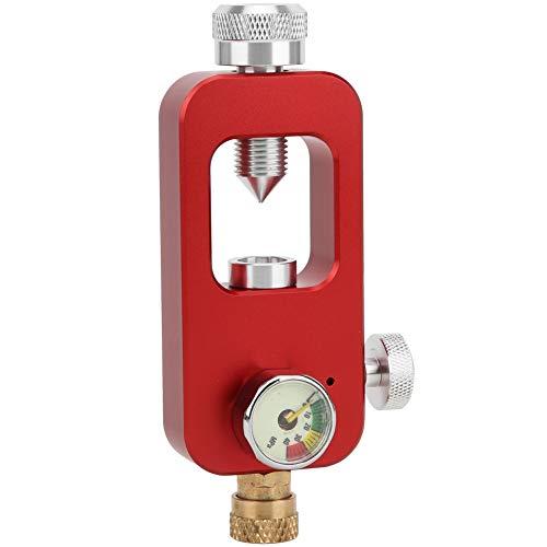 DEDEPU Adaptador De Buceo Conector De Botella De Oxígeno De 8 Mm con Manómetro Submarino Equipo De SnorkelRojo